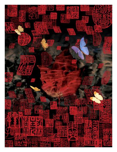 """""""Ch'an Mind, Zen Mind"""" digital print series"""