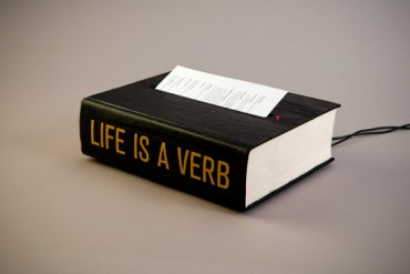 Life Is a Verb — the book of spoken wisdom
